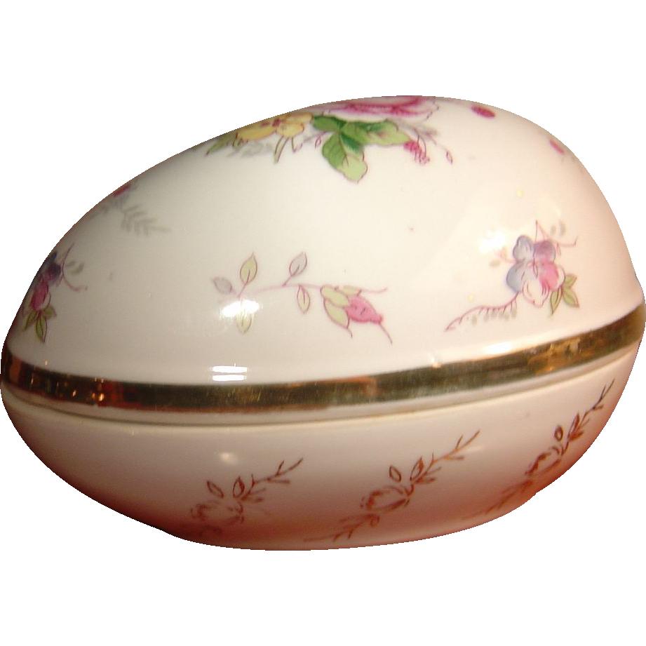 Vintage Porcelain Powder Jar or Trinket Box SRG Japan