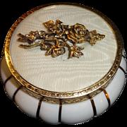 Vintage White Cased Glass Powder Jar