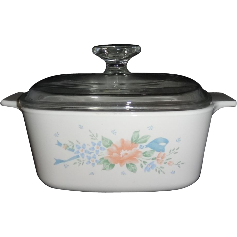 corning ware 1 12 quart covered saucepan in the symphony pattern