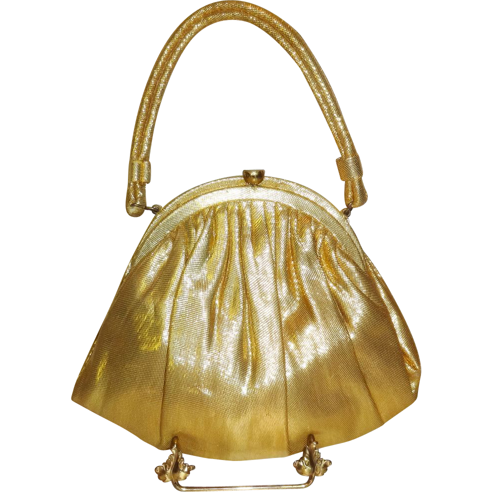 Vintage Gold Lame` Evening Bag by Garay