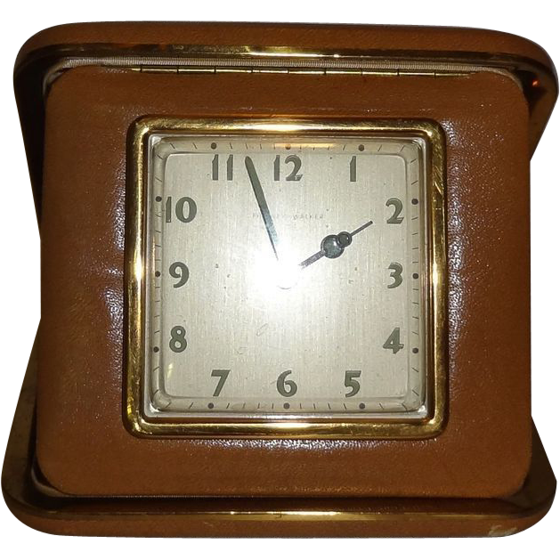 Vintage Travel Alarm Clock by Phinney Walker in Original Box