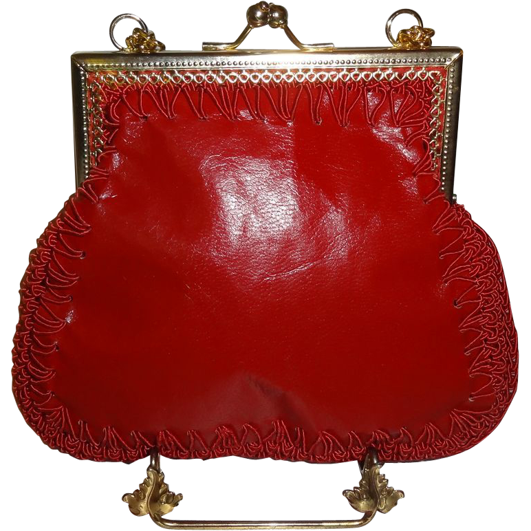 Vintage Italian Red Shoulder Bag by Mister Simon Ernest