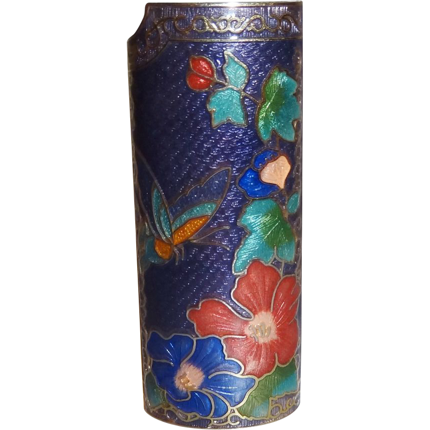 Vintage Cloisonne Lighter Cover MINT