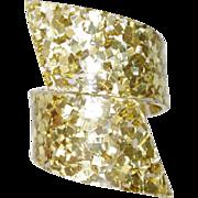 Vintage Confetti Lucite Bypass Bracelet