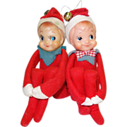 Two Vintage Knee Hugger Elves