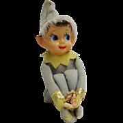 Vintage Knee Hugger Elf with Fur Trimmed Hat