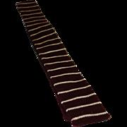 Vintage Roosterknit All Wool Flat Bottom Skinny Tie