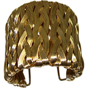 Extra WIDE Woven Wire Cuff Bracelet