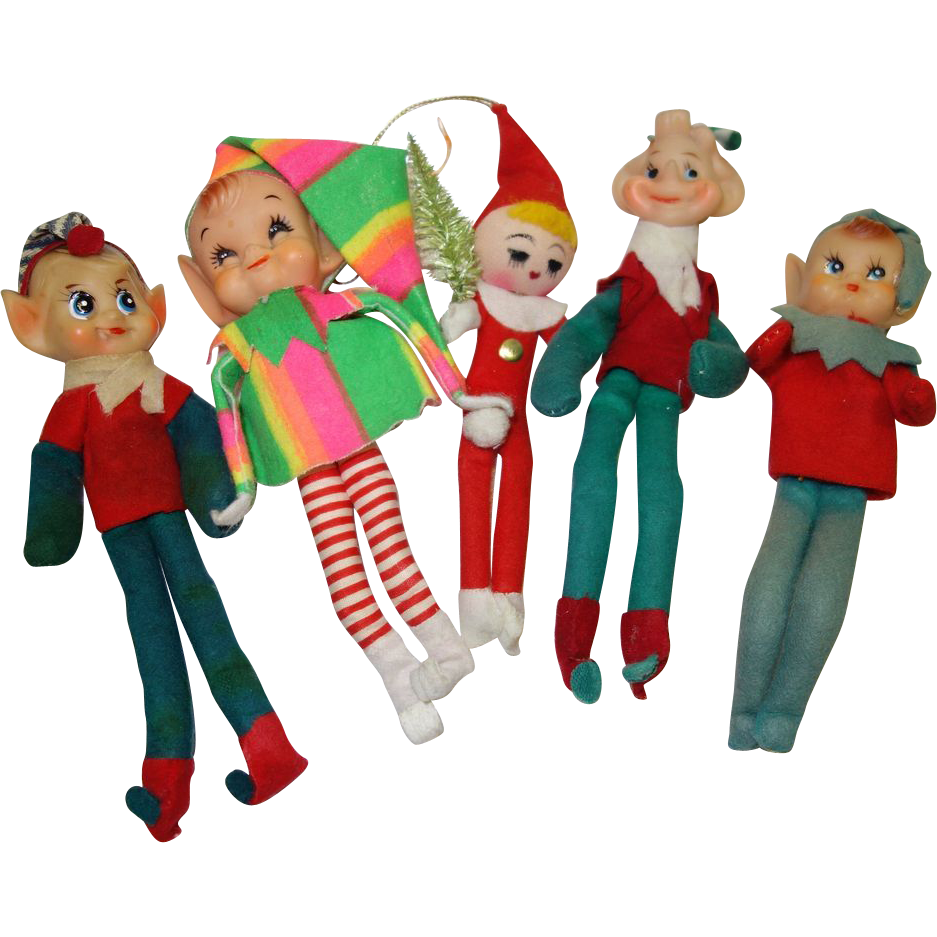 Antique Elf Christmas Ornaments