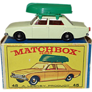 Vintage Matchbox Ford Corsair and Boat in Original Box - Red Tag Sale Item