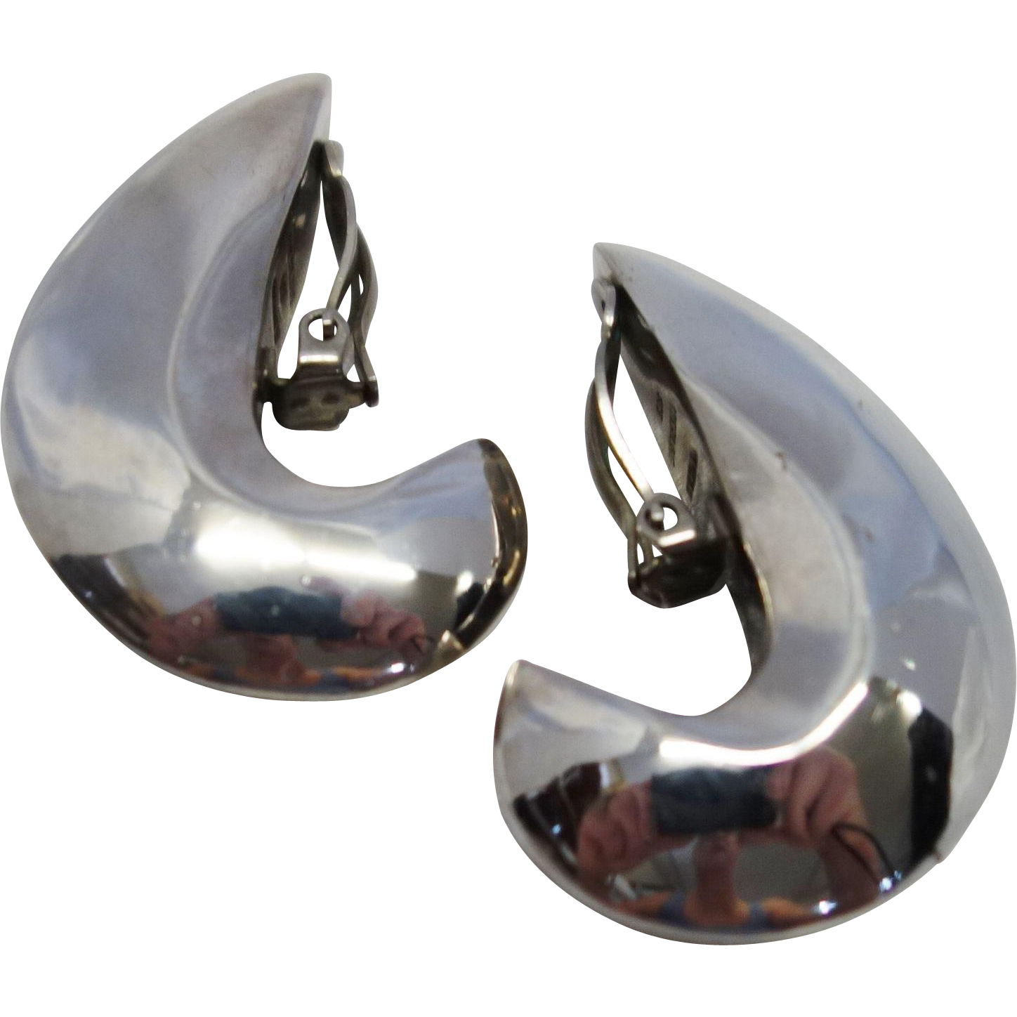 Patricia Von Musulin Sterling Silver Clip Earrings