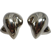 Patricia Von Musulin Modernist Sterling Silver Clip Earrings