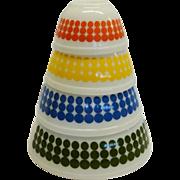 Vintage Pyrex New Dot 4 Piece Mixing Bowl Set