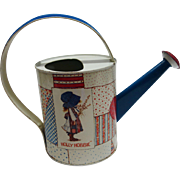 Vintage Holly Hobbie Tin Watering Can by Chein Playthings c. 1974 - Red Tag Sale Item