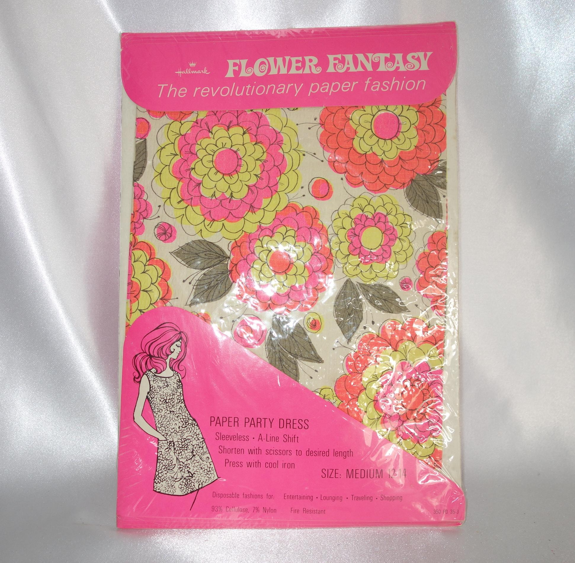 Vintage unopened hallmark flower fantasy paper party dress Hallmark flowers