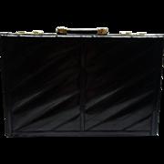 Vintage Black Eel Skin Briefcase
