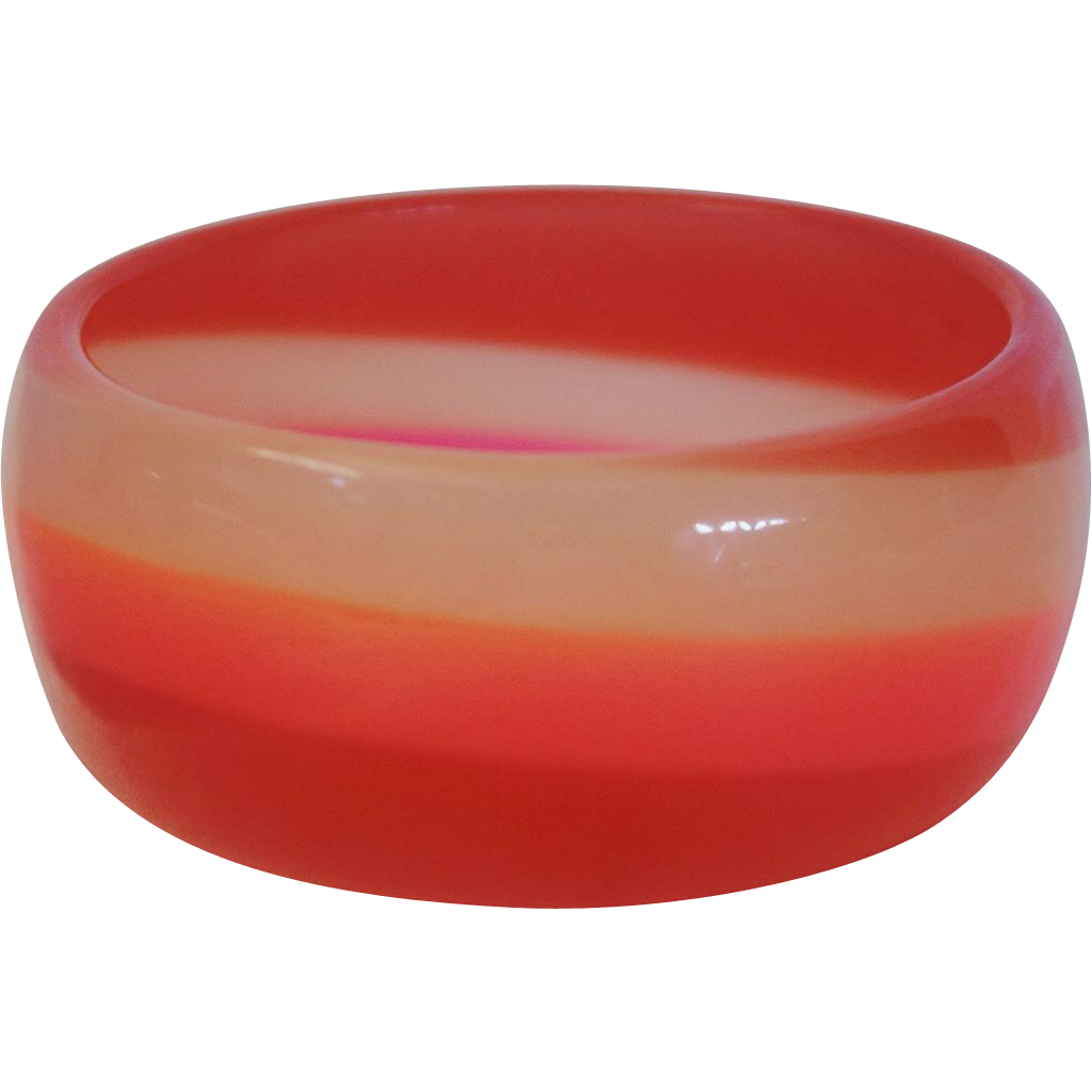 Vintage Glow-in-the-Dark Resin Bangle Bracelet