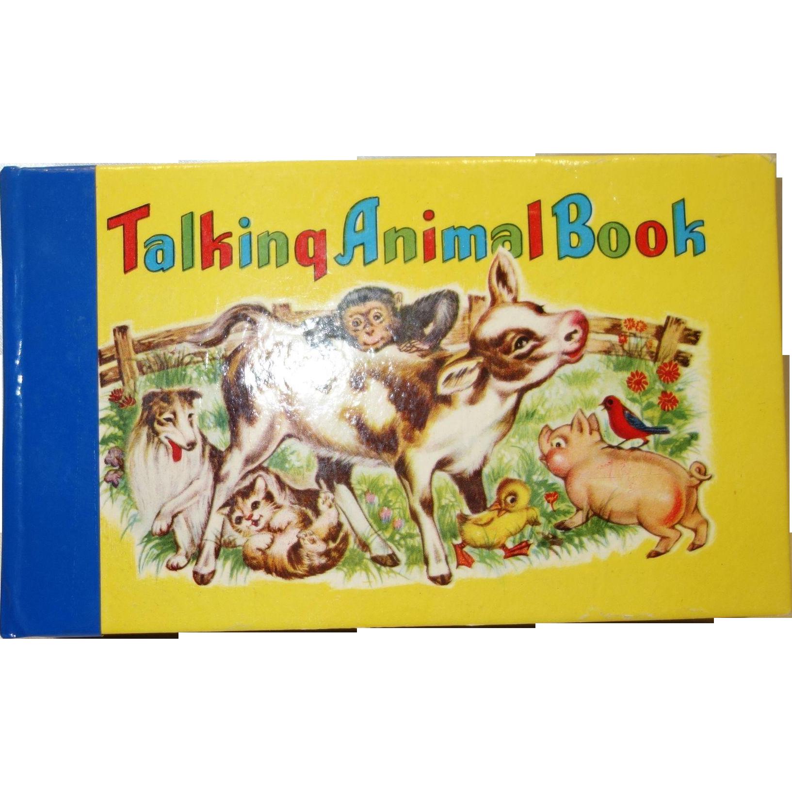 Vintage 1950's Talking Animal Squeaky Book