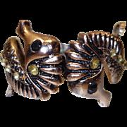Vintage Seahorse Clamper Bracelet