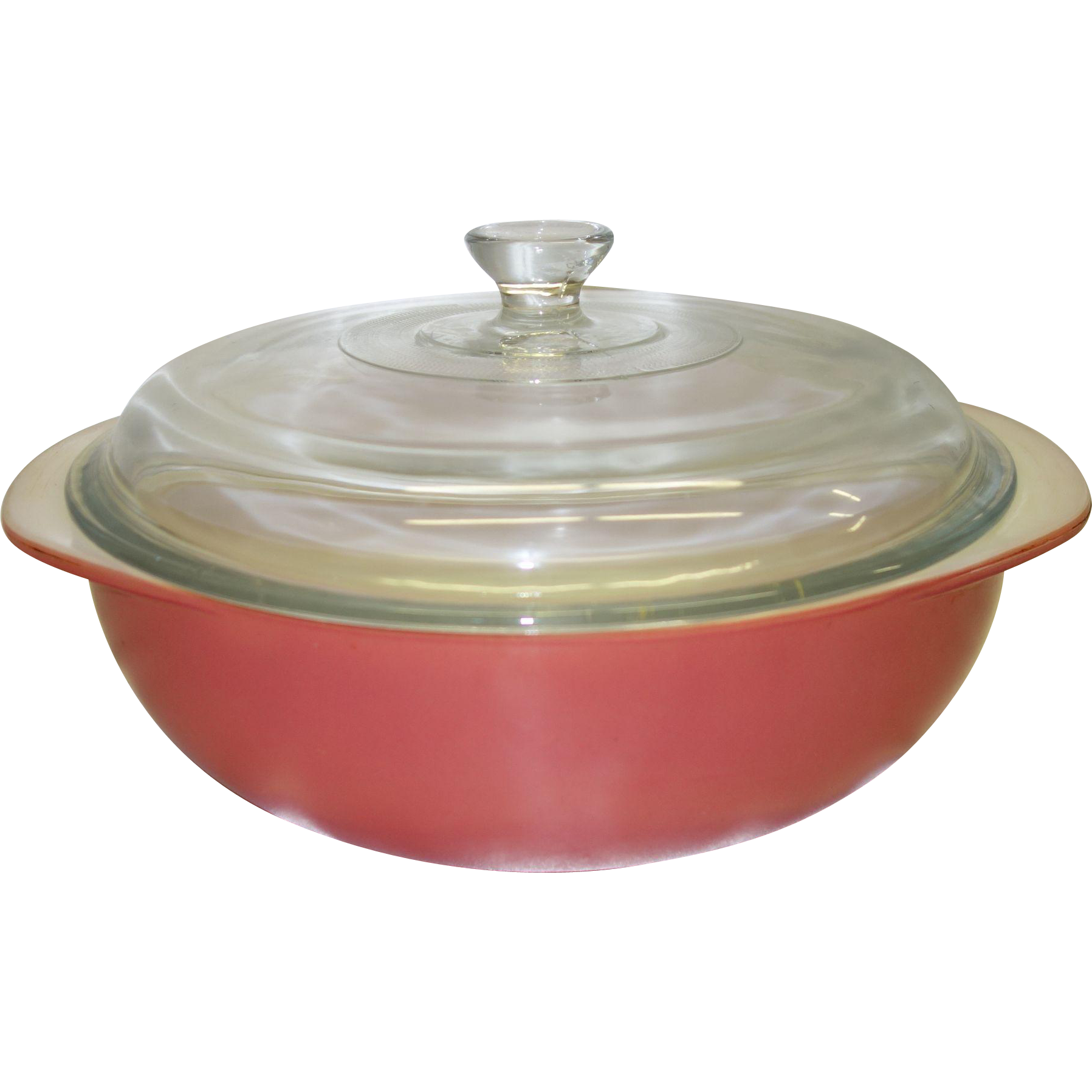Vintage Pyrex Fired-On Flamingo 2 Qt. Covered Casserole