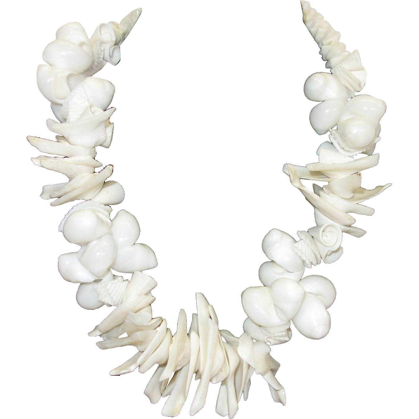 Vintage Chunky Seashell Necklace