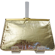 Gold Lame` Convertible Clutch Purse