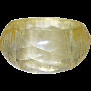 Diamond Faceted  Resin Bangle Bracelet