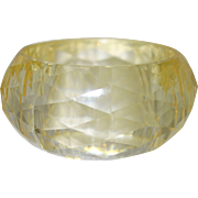 Diamond Faceted  Resin Bangle Bracelet