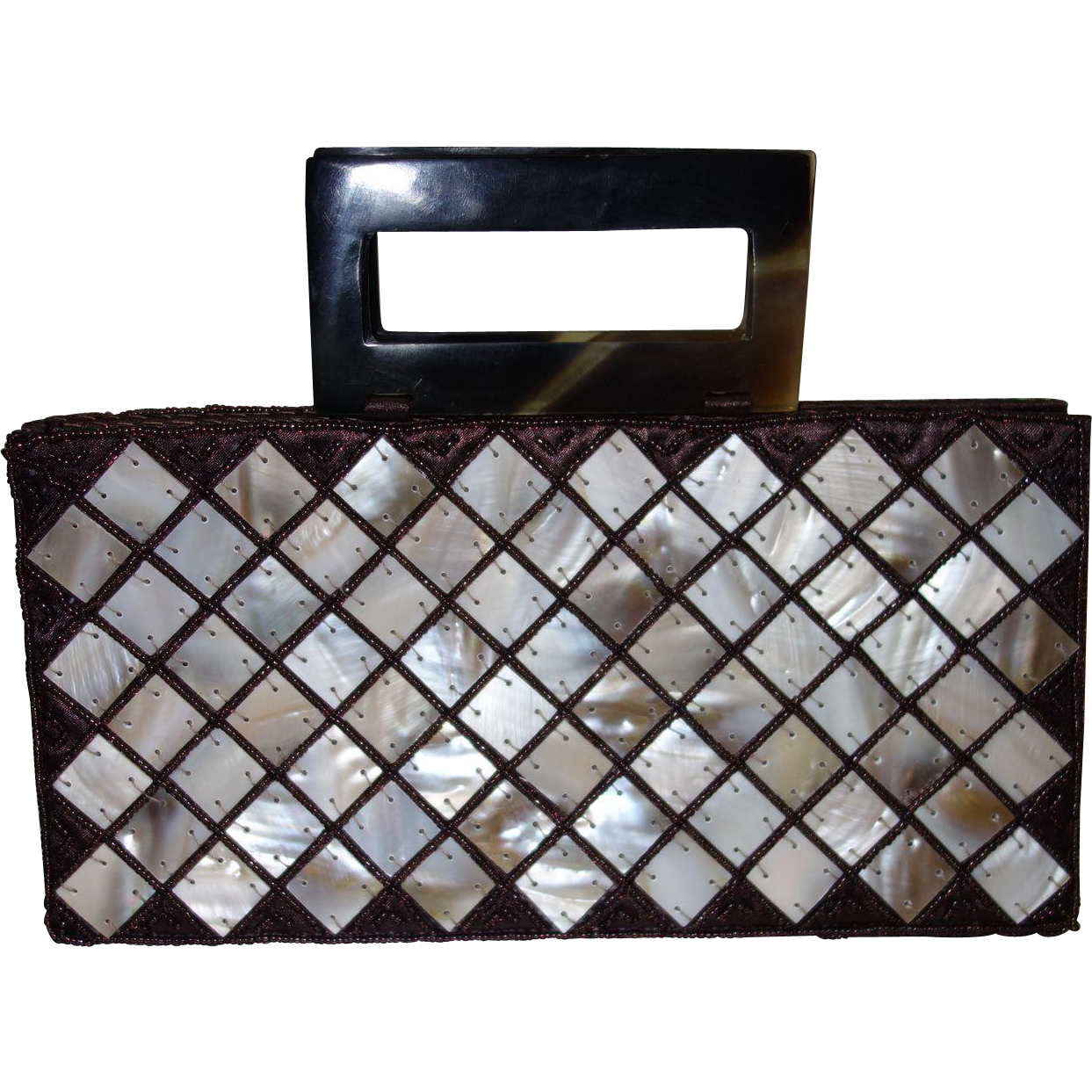 Vintage Mother of Pearl Beaded Handbag