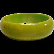 Vintage Chartreuse Bakelite Bangle Bracelet