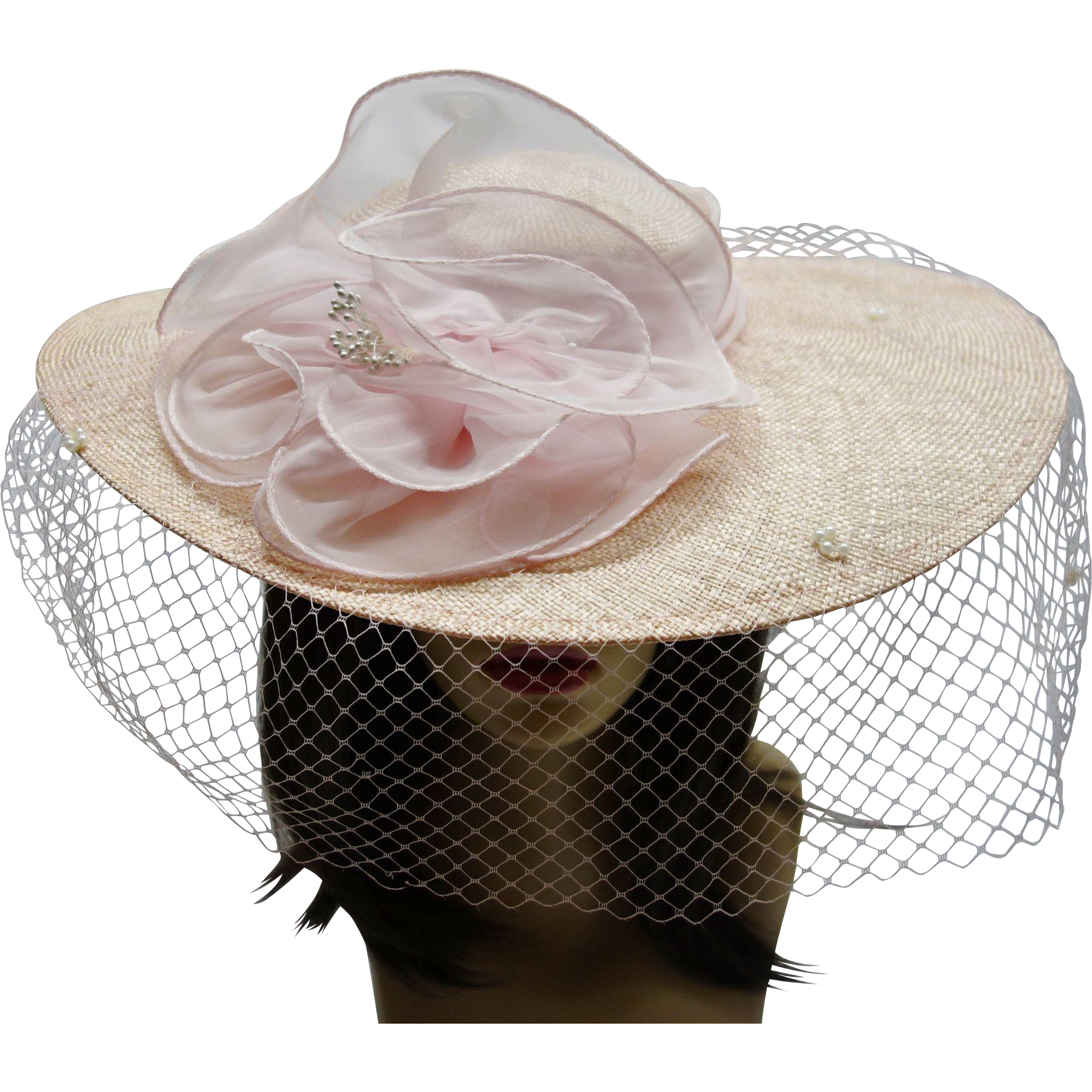 Vintage Light Pink Hat by Sonni San Francisco