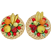 Vintage West Germany Fruit Salad Earrings