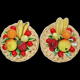 Vintage West Germany Fruit Salad Earrings