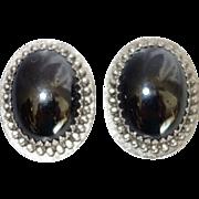 Vintage Whiting and Davis Hematite Earrings