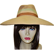 Vintage Tan Structured Hat by Glorianna