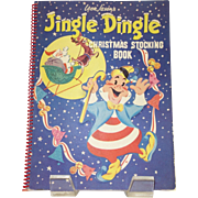 Vintage Jingle Dingle Christmas Stocking Pop-Up Book by Leon Jason c. 1953