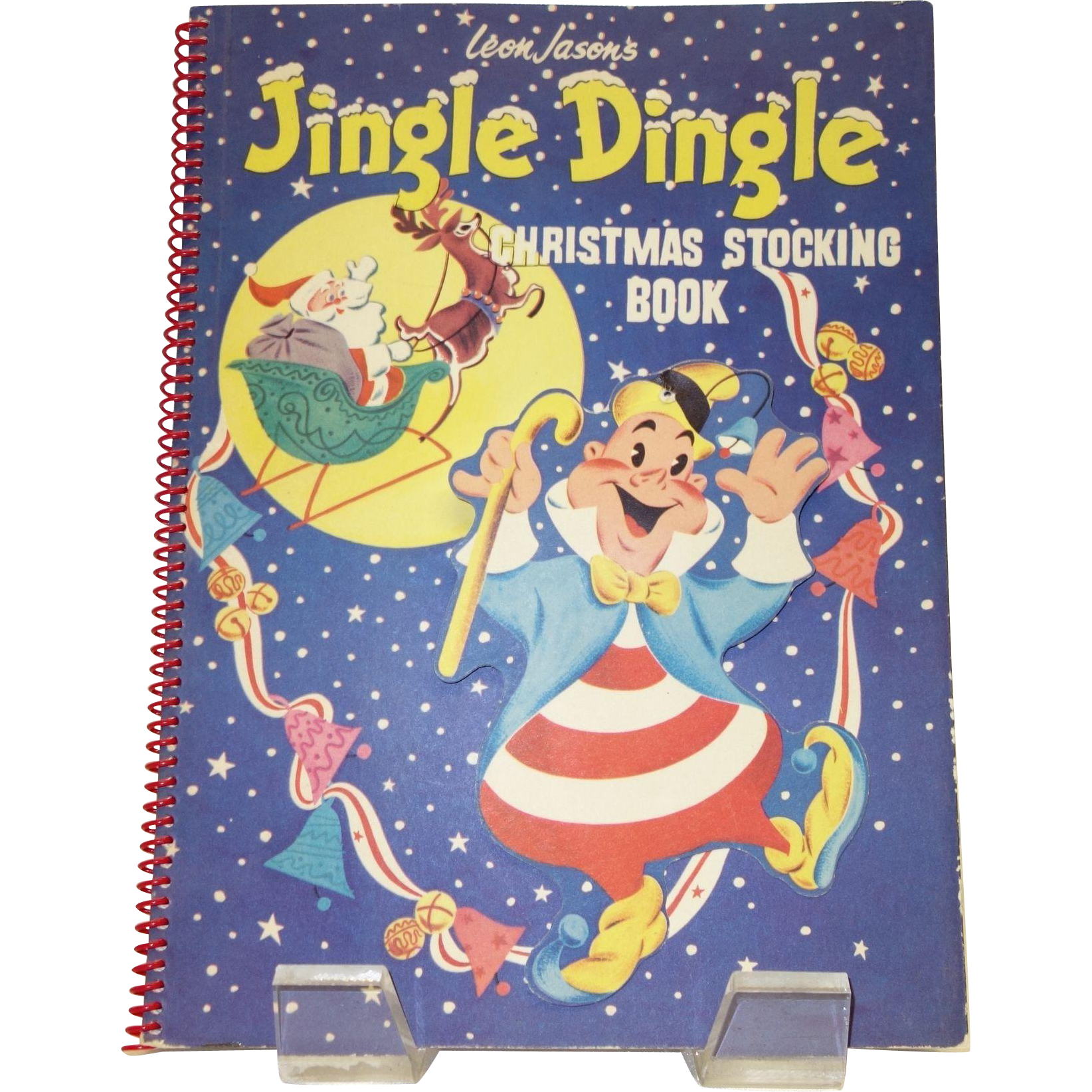 Vintage Jingle Dingle Christmas Stocking Pop-Up Book by Leon Jason c. 1953