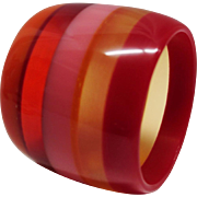 Extra WIDE Laminated Lucite Bangle Bracelet