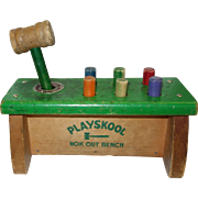 Vintage 1950's Playskool Nok Out Bench