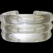 Vintage Judith Hendler Clear Lucite Cuff Bracelet