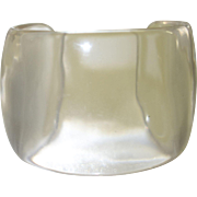 Vintage Clear Wide Lucite Cuff Bracelet