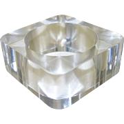 Runway Clear Square Resin Bangle Bracelet
