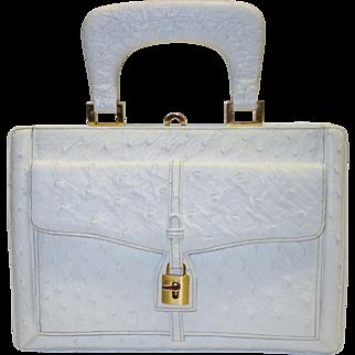 Classy Vintage Harry Rosenfeld Ostrich Skin Purse