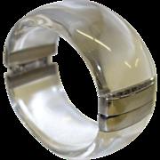 Vintage Clear Lucite Hinge Bracelet