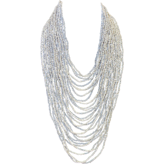 Vintage BOLD Multi Strand Beaded Bib Necklace