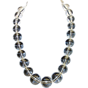 Vintage Clear Lucite Beaded Necklace