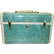 Vintage Green Samsonite Train Case