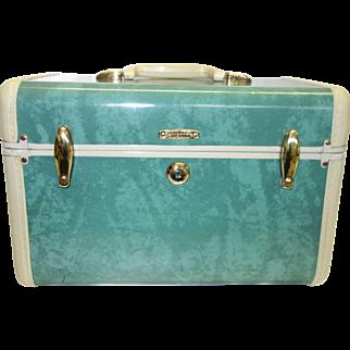 Vintage Green Samsonite Train Case