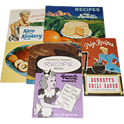 Five Vintage Cookbook Booklets from the 1930's-1950's