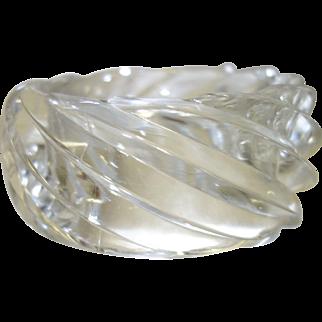 HUGE Vintage Clear Lucite Spiral Bangle Bracelet Made in Western Germany